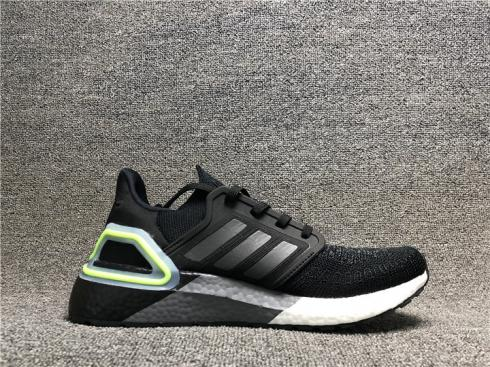 Adidas Ultra Boost 2020 Core Black Cloud White Green FY3452
