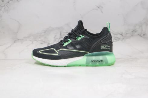 Adidas Originals ZX 2K Boost Core Black Green Cloud White H67935
