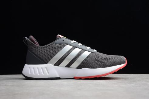 Adidas Grand Court Dark Grey Cloud White Solar Red Shoes EH0838