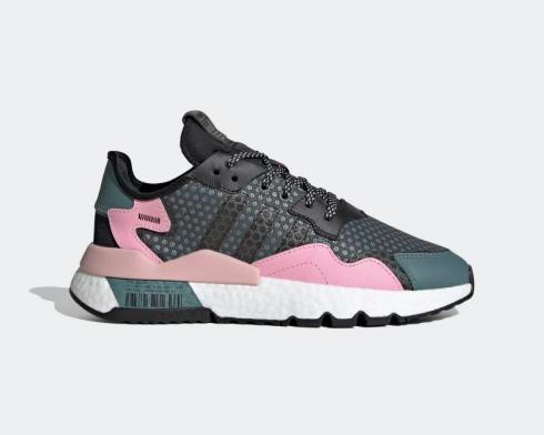 Adidas Nite Jogger Boost Raw Green Core Black-Ture Pink EF5428