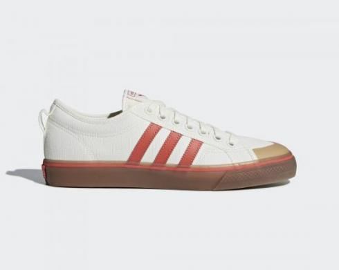 Adidas Nizza Off White Core Red Gum Casual Shoes CQ2326