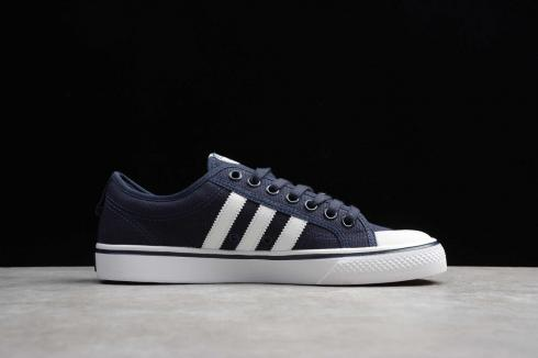 Adidas Original Nizza Low Collegiate Navy Blue Cloud White BZ0499
