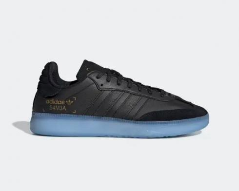 Adidas Samba RM Boost Core Black Clear Sky Blue Shoes BD7476