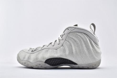 2020 New Nike Air Foamposite One Silver White Black Basketball Shoes AA3963-106