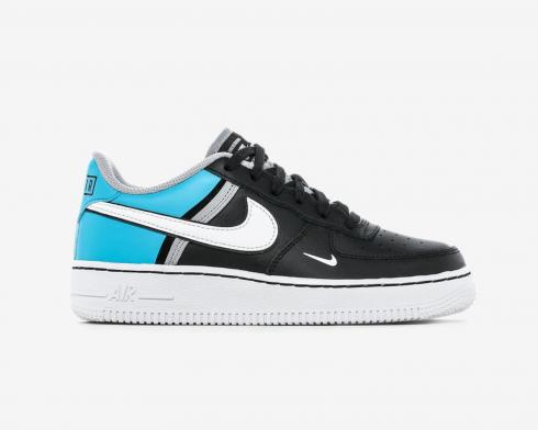 Nike Air Force 1 LV8 2 GS Black Light Current Blue Wolf Grey CI1756-001
