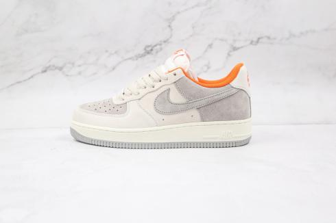 Nike Air Force 1 Low 07 Grey White Brown Casual Shoes CC5059-102