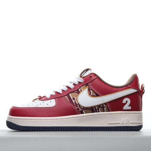 Nike Air Force 1 Low 07 LV8 White Black University Red CK6686-610