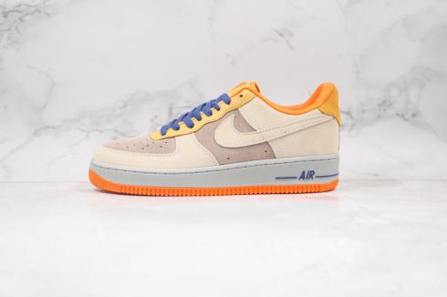 Nike Air Force 1 Low Dark Grey Orange Blue Shoes DD7209-105