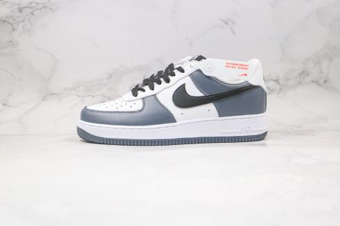 Nike Air Force 1 Low White Wolf Grey Black Running Shoes 315182-006