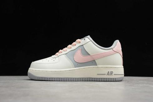 Wmns Nike Air Force 1 Low Beige Grey Pink White CW7584-901