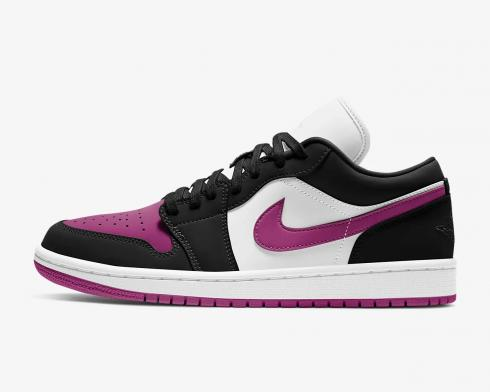 Wmns Air Jordan 1 Low Black Cactus Flower White Shoes DC0774-005