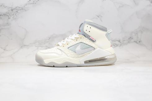 SNS x Air Jordan Proto-Max 720 White Grey Red Basketball Shoes CT3444-001