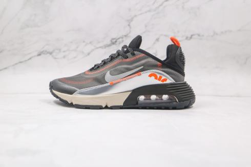 Nike 3M x Air Max 2090 Sneakers Shoes Black Orange Metallic Silver CW8611-001