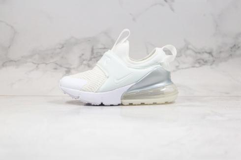 2020 Nike Kids Air Max 270 Extreme Casual Shoes Cream White Silver CI1107-100