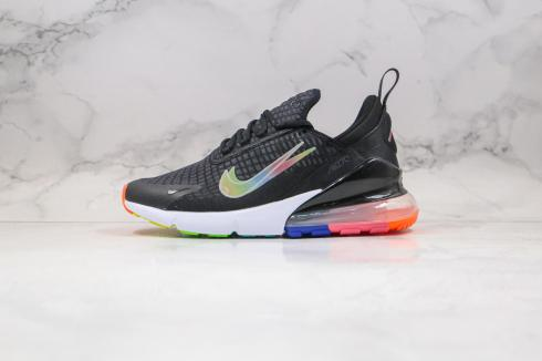 Nike Air Max 270 Core Black Colorful Double Logo Shoes AH8050-302