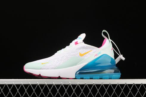 Nike Air Max 270 White University Gold Blue Pink CJ9568-100