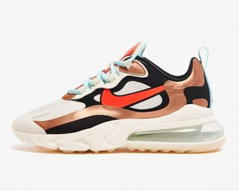 Nike Wmns Air Max 270 React Red Bronze Black Metallic Pure Platinum CT3428-100