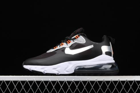 Nike Wmns Air Max 270 React SE Black Silver Orange CT1834-001 Release Date