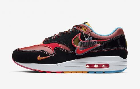 Nike Air Max 1 87 CNY Chinatown University Gold Red Blue Black Trainers Lifestyle Shoes CU6645-001