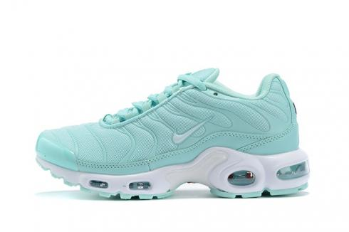 Nike Air Max Plus Running Shoes Igloo Teal Tint White Silver CJ9925-100 GS