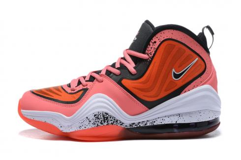 Nike Air Penny V 5 Peach Orange Black White Basketball Shoes 537331-028