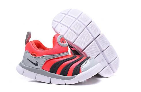 Nike Dynamo Free SE Y2K Infant Toddler Shoes Bright Red Grey Black White 343938-630