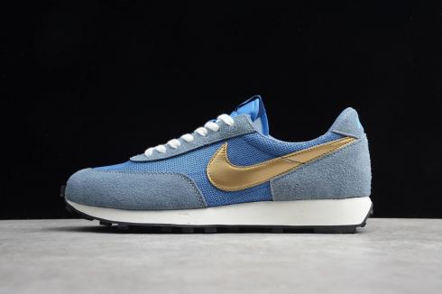 Nike Daybreak SP Ocean Fog Metallic Gold Waffle Racer Running Shoes BV7725-410
