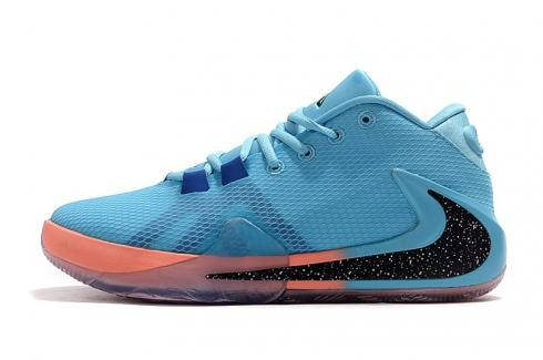 Nike Zoom Freak 1 Lake Blue Light Orange Black Shoes BQ5422-415