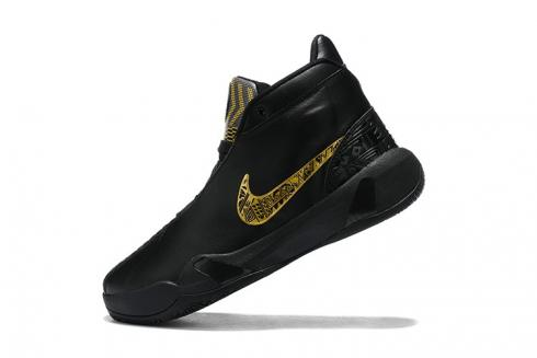 Nike Zoom Heritage N7 Black Gold Basketball Shoes CI1683-007