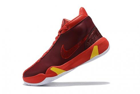 Nike Zoom Heritage N7 Black Gym Red Dark Red Active Yellow Basketball Shoes CI1683-605