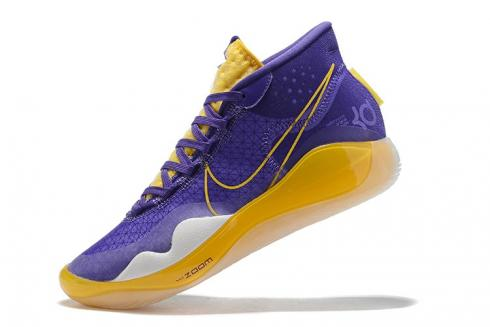 Nike Zoom KD 12 EP Lakers Purple Yellow Basketball Shoes AR4229-985