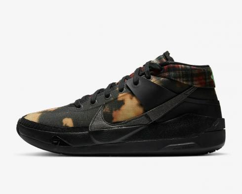 Nike Zoom KD 13 Bleach Plaid Black Illusion Green White Onyx DA0895-005