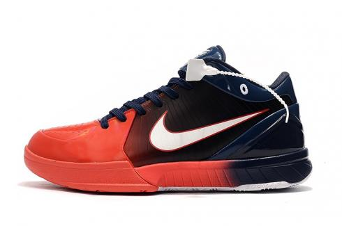 Undefeated x Nike Zoom Kobe IV 4 USA Navy Blue Red Bryant Basketball Shoes 344335-406