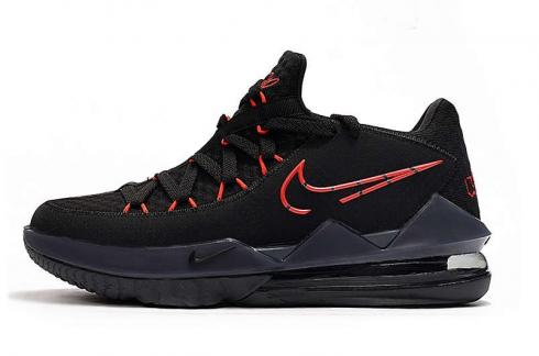 2020 Nike Lebron XVII 17 Low Bred Black Red James Basketball Shoes CD5006-001
