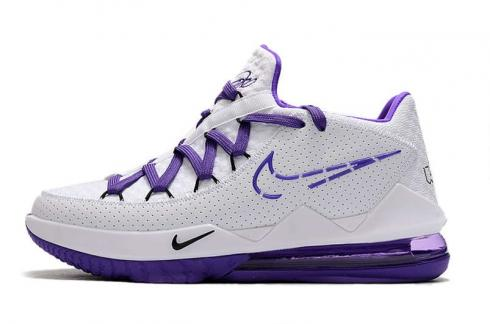 2020 Nike Lebron XVII 17 Low White Black Purple Basketball Shoes CD5007-104