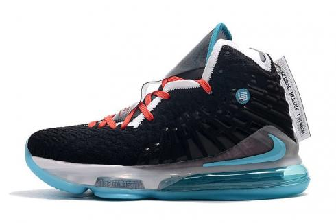 2020 Nike Zoom Lebron XVII 17 Black Hyper Jade White Basketball Shoes For Sale CV8075-113